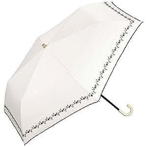 w.p.c World Party 遮光 迷你 3种颜色 折叠伞 手动 遮阳伞/晴雨兼用 6根伞骨 50厘米 防紫外线 轻量 白色