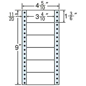 东洋印刷 褶皱泡沫标签 4 5/10英寸 ×9英寸 (1盒1000折) MM4QS 6面付