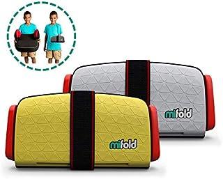 mifold Bundle 2 Grab-and-Go Booster®,儿童汽车座椅,珍珠灰色和计程车黄色