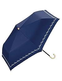 w.p.c 折叠晴雨伞 遮光 碎花刺绣 蓝色 50cm 801-622