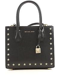 Michael Kors 迈克·科尔斯 女式 Mercer铆钉星星时尚斜挎包 30F7GZ4M2Y001 黑色 22*19*10cm