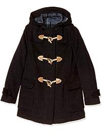 [橄榄球场] 橄榄球学校 带拉链双排扣粗呢大衣[炭灰色] 女孩 1J90012-08