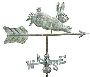 Good Directions Rabbit Garden Weathervane with Garden Pole, Blue Verde Copper