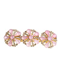 Caravan 粉色和金色自动发夹 带施华洛世奇红石,0.5 盎司