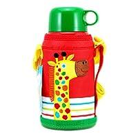 正品日本TIGER 虎牌儿童型不锈钢真空杯(长颈鹿)MBJ-C06C CG 0.6L
