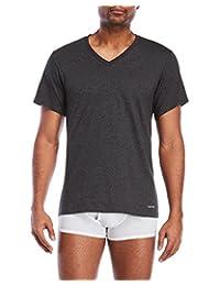 Calvin Klein 卡尔文·克莱恩 男式 棉质经典短袖 V 领 t 恤(3件装) Multi Undershirts Cotton Classics 3 Pack V Neck Tshirts