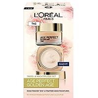 L'Oréal Paris 巴黎歐萊雅 Golden Age 保濕潤膚面霜,日夜兩用面霜,使膚色紅潤亮麗,禮品裝,粉色