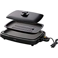 IRIS OHYAMA 爱丽思欧雅玛 电热烤盘 黑色 带盖子 3WAY型(章鱼烧、烤肉、平面) 黑色 2WAY APA-136-B