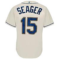 Outerstuff Kyle Seager 西雅图水手 #15 奶油色青少年酷炫基础备用复制品球衣