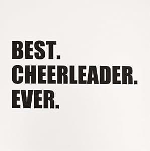 InspirationzStore Typography - Best Cheerleader Ever - 文字 - *好的头部或队啦啦队女孩 - 贺卡 Set of 6 Greeting Cards