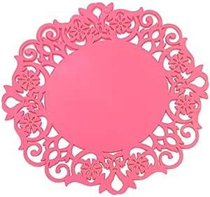 硅胶多功能垫子和热垫,6 个耐热,防滑锅和牙膏支架套装 深粉色 Small 3.75 inch/Medium 5.9 inch/large 7.6 inch