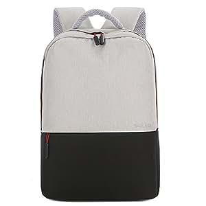 笔记本电脑背包,SOCKO 轻便旅行电脑包男式女式防盗防水纤薄商务背包大学书包时尚休闲日包,黑色 15.6 Inch