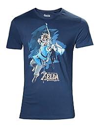 The Legend of Zelda Breath of The Wild - 链接与箭头 T 恤蓝色 L 蓝色 标准