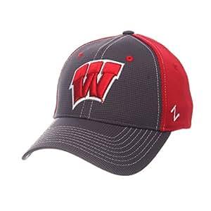 ZHATS NCAA 男士网格棒球帽 灰色/球队颜色 中号/大号