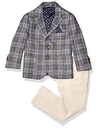 Isaac Mizrahi 男孩 2 件套多格子西装