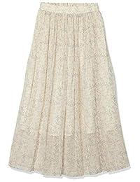 N. Natural Beauty Basic] 裙子 雪纺纱花百褶裙 女士 166-0120521