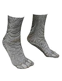 儿童 3D 动物爪子脚印脚船袜弹性袜大象
