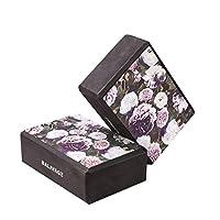 Balayage 柔软黑色粉色花卉图案瑜伽砖,轻质 EVA 泡沫*环保材料,2 件装