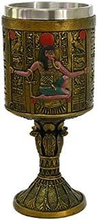 PT 古埃及收藏版树脂雕像可饮用高脚杯,内层可拆除不锈钢