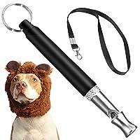 防止吠叫的狗哨,可调节音高超声波狗训练口哨,狗狗安静止吠控制,包括免费黑色挂绳
