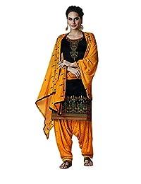 Ladyline Patiala Salwar Kameez 绣花女士印度连衣裙立即穿纱丽服