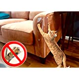 """The ORIGINAL LAMINET Deluxe Pet Scratch Shields - Protect your furniture & walls with our Deluxe Heavy Duty Flexible Plastic Furniture, Door & Wall Scratch Shields 2 - Cat Furniture Shields 21""""L x 5.5""""W"""