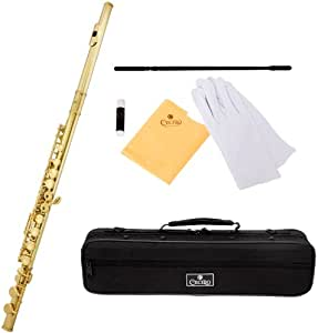 Cecilio FE-280L Gold Lacquer Key of C Flute with Case and Accessories