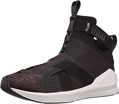 PUMA 女士 Fierce Strap WN's 交叉训练鞋 黑色/白色 6