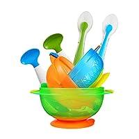 Munchkin 满趣健 吸盘碗+左右勺+硅胶勺套装【跨境自营】