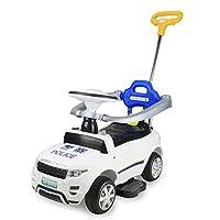 LEKANG儿童电动车四轮宝宝玩具汽车可坐人护栏推杆婴儿滑行学步童车8902 (白)