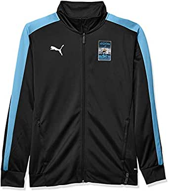 PUMA 男士 Copa America T7 夹克 Puma Black/Azure Blue Medium