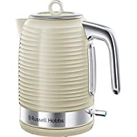 Russell Hobbs 24364 Inspire Electric Kettle, 1.7 Litre Cordless Hot Water Dispenser with 1 Cup 45 Second Fast Boil, Cream, 3000 W