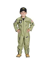 Aeromax Jr. 带刺绣帽的战斗员飞行员套装 72 months to 96 months * 6 / 8 橄榄色(*)绿色