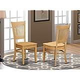 East West Furniture VAC-ESP-C 超细纤维软垫座椅,适用于餐厅,浓咖啡表面,2 件套