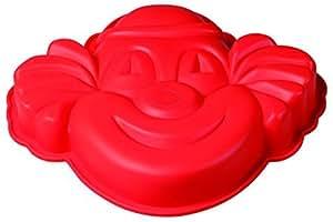 PAVONI ITALIA FRT130RSA PAGLIACCIO硅胶蛋糕模具-红色(亚马逊进口直采,意大利品牌)