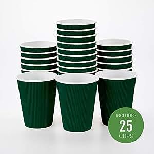 Restaurantware 隔热纸咖啡杯 森林绿 12盎司 RWA0279DG-25