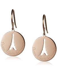 Agatha Paris 法国品牌 玫瑰金镂空铁塔造型 女士耳环 时尚气质饰品
