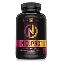 Zhou Nutrition 含L精氨酸,蘋果酸瓜氨酸,AAKG和甜菜根的一氧化氮補充劑——強大的N.O. 力量,有益于血液流動,助推耐力,建造肌肉——120粒素食膠囊