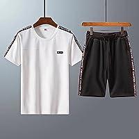 GTU 【短袖t恤+裤子两件套】夏季运动套装男夏短袖T恤短裤休闲套装夏装跑步健身