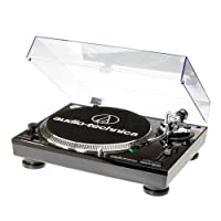 Audio Technica AT-LP120USBHC 直接驱动转台拾音器 AT95E 和 Headshell AT-HS10 黑色 AT-LP120USBHCBK