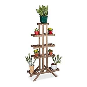 relaxdays 花朵 stand 5层石墨室内花朵机柜 multi-shelf hxwxd CA 4X 83x 28.5cm 各种颜色