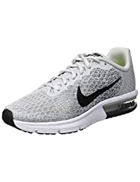 Nike Air Max Sequent 2 (GS) Gym Shoes, Children, Pure Platinum/Black - Cool Grey - Wolf Grey, 37.5