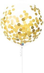 PartyMate 五彩气球,带卷发带 金色 17-Inch 90875