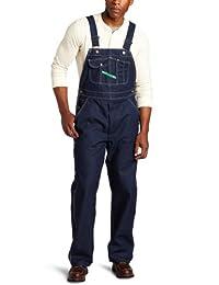 Key Apparel Men's Hi-Back Zipper Fly Denim Bib Overall