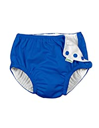 i play Baby Boys' Reusable Absorbent Side Snap Swim Diaper, Royal, 12-18 Months