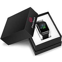 Smart Touch KW06 智能手表带内置摄像头 (Android 5.1) 蓝牙健身追踪器,心率和*监测,计步器 IP68 防水,LCD 触摸屏 男式,女式