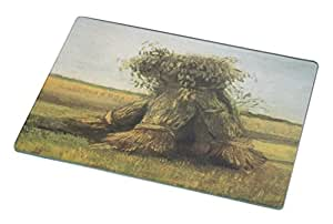 Rikki Knight RK-LGCB-1446 Van Gogh Art Sheaves2 Glass Cutting Board, Large, White