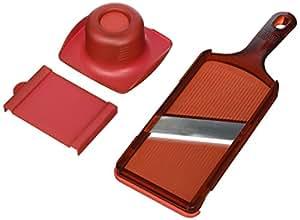 Kuhn Rikon Dual Slice Mandoline, 11-Inch, Red