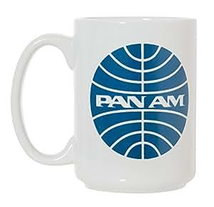 复古航空公司标志大号 425.24ml 双面咖啡茶杯 Pan Am 15盎司
