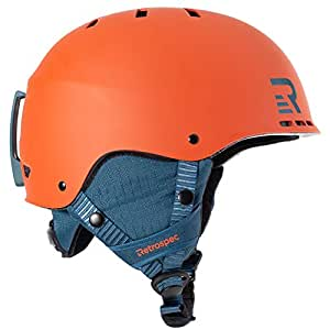 Retrospec Traverse H2 二合一敞篷头盔,带 10 个通风口 Small/Medium (54-58cm) 橙色 3005